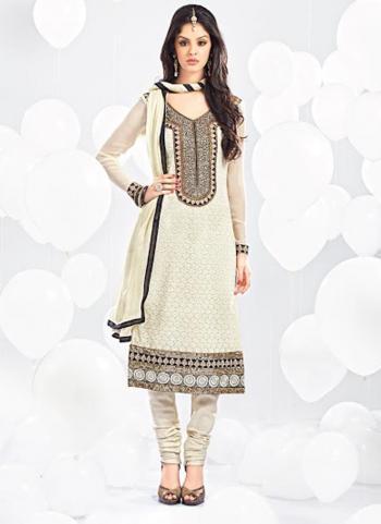 Imperial Beige Georgette Designer Salwar Suit