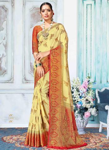 Party Wear Beige Nylon Silk Weaving Saree