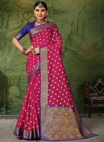 Silk Rani Festival Wear Handloom Saree