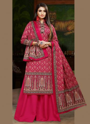 Rani Pashmina Casual Wear Digital Print Palazzo Suit