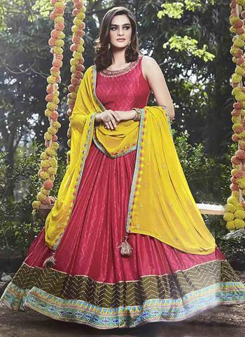 Rani Fancy Party Wear Hand Work Anarkali Suit