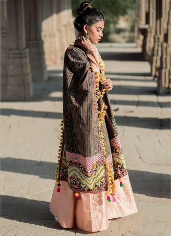Multi Color Cotton Khadi Casual Wear Embroidery Work Dupatta
