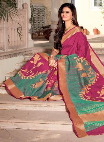 Pink Satin Silk Wedding Wear Weaving Saree
