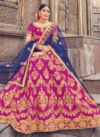Rani Silk Traditional Wear Zari Work Lehenga Choli