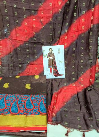 Daily Wear Brown Banarasi Silk Salwar Suit
