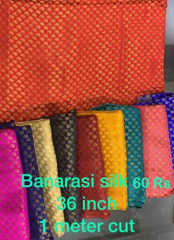 Banarasi Silk Weaving Blouse Materials Minimum Order Quantity Is 10 Pcs , Price Mentioned Is Of 10 Pcs.