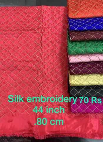 Silk Embroidery Work Blouse Materials Minimum Order Quantity Is 10 Pcs , Price Mentioned Is Of 10 Pcs.