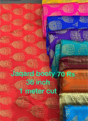 Jacquard Butti Work Blouse Materials Minimum Order Quantity Is 10 Pcs , Price Mentioned Is Of 10 Pcs.