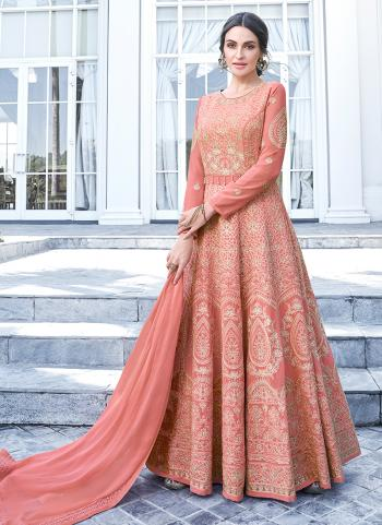 Pink Georgette Festival Wear Embroidery Anarkali Suit