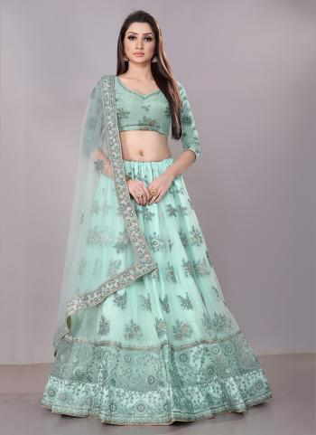 Aqua Net Festival Wear Zari Work Lehenga Choli