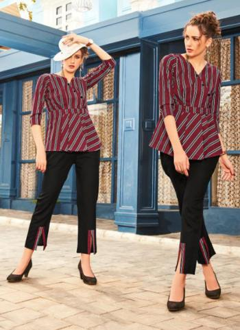 Red Cotton Linen Party Wear Printed Top With Bottom