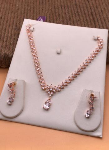Designer White Necklace Set