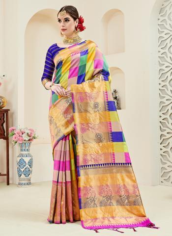Multi Color Silk Party Wear Weaving Saree