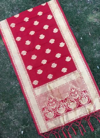 Rani Festival Wear Silk Zari Work Dupatta