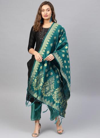 Silk Rama Wedding Wear Zari Work Dupatta
