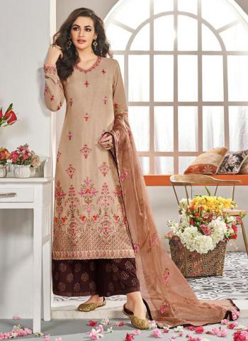 Black Muslin Festival Wear Embroidery Work Readymade Palazzo Suit