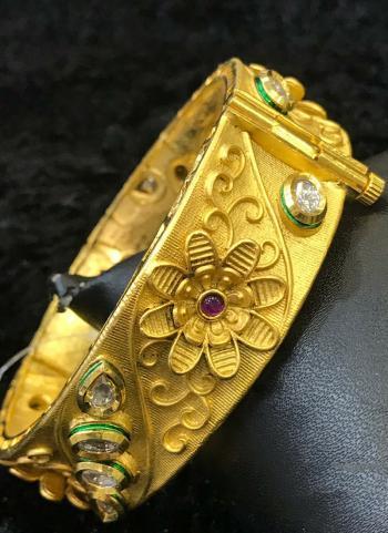 Gold Plated Designer Bangle