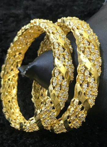 New Designer Gold Plated Indian Designer Bangles Set