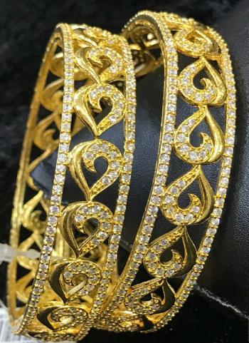 Trendy New Designer Gold Plated Bangles Set