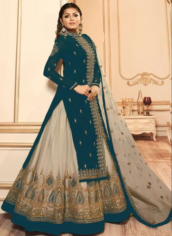 Rama Faux Georgette Traditional Wear Embroidery Work Lehenga Suit