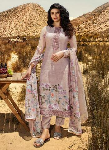 Brown Crepe Casual Wear Printed Straight Suit