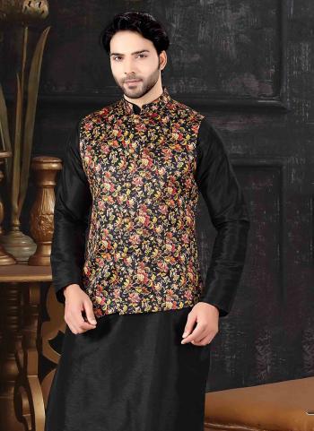 Multi Color Silk Festival Wear Printed Work Jacket