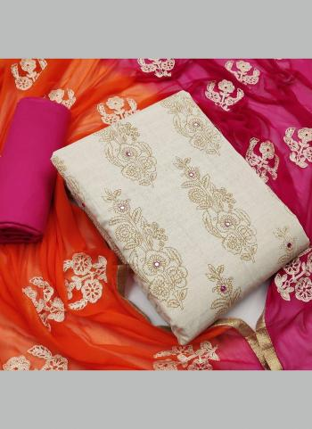 Rani Khadi Cotton Festival Wear Mirror Work Salwar Suit