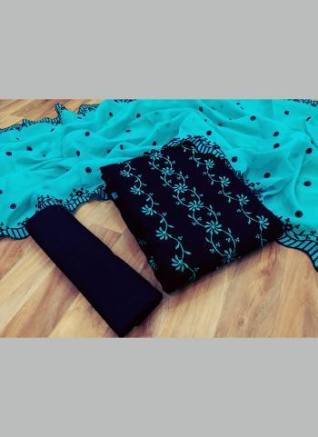 Sky Blue Kota Chex Casual Wear Multi Work Salwar Suit