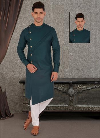 Rama Pure Cotton Traditional Wear Hand Stitched Kurta