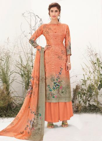 Pink Muslin Festival Wear Embroidery Work Palazzo Suit