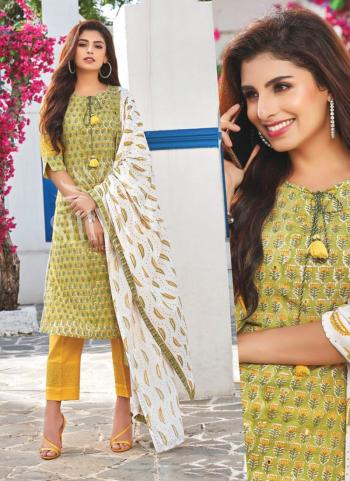 Olive Green Rayon Party Wear Embroidery Work Readymade Salwar Suit