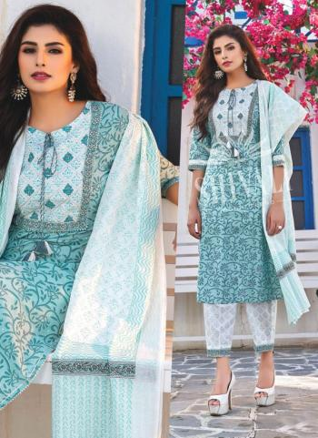 Sky Blue Rayon Party Wear Embroidery Work Readymade Salwar Suit