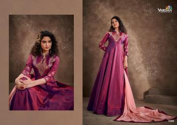 Purple Silk Party Wear Embroidery Work Gown With Dupatta