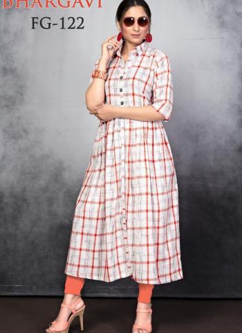 Pink Slub Cotton Daily Wear Printed Work Kurti