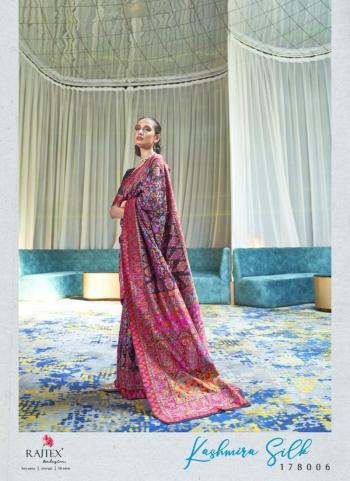 Blue Silk Festival Wear Weaving Saree