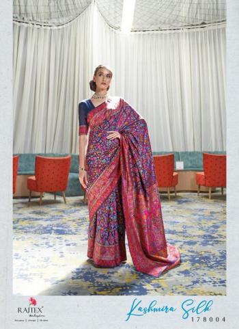 Navy Blue Silk Festival Wear Weaving Saree