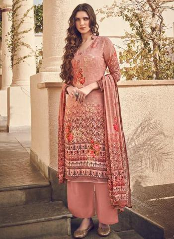 Dark Pink Pure Viscose Traditional Wear Digital Printed Salwar Suit