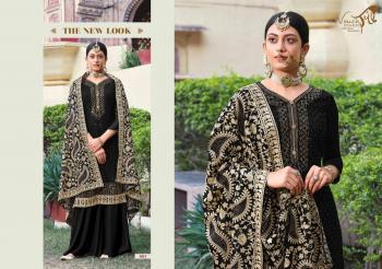 Black Georgette Festival Wear Diamond Work Palazzo Suit