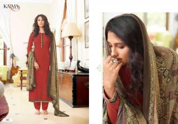 Red Muslin Festival Wear Embroidery Work Straight Suit