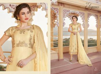 Beige Pure Chanderi Party Wear Embroidery Work Churidar Suit