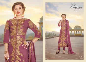 Purple Pure Chanderi Party Wear Embroidery Work Churidar Suit
