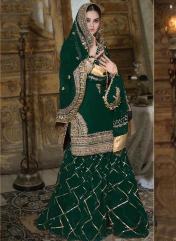 Brown Georgette Wedding Wear Heavy Hand Work Pakistani Suit