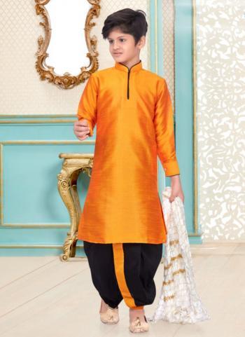 Mango Dupion Silk Party Wear Fancy Kids Kurta Pajama