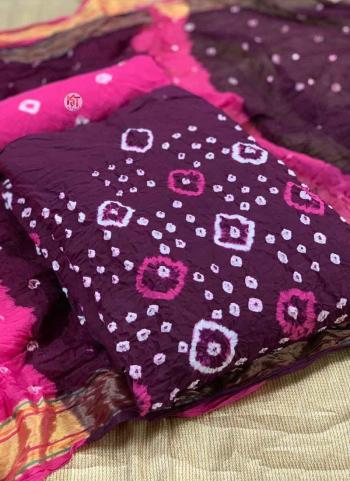 Purple Pure Cotton Regular Wear Printed Work Dress Material