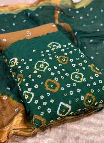 Rama Green Pure Cotton Regular Wear Printed Work Dress Material