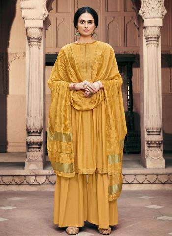 Pink Viscose Muslin Traditional Wear Embroidery Work Palazzo Suit