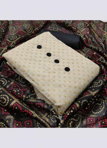 Black Khadi Cotton Daily Wear Printed Work Salwar Suit