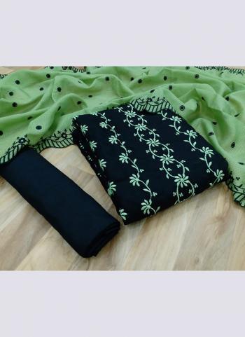 Pista Green Kota Checks Casual Wear Multi Work Dress Material