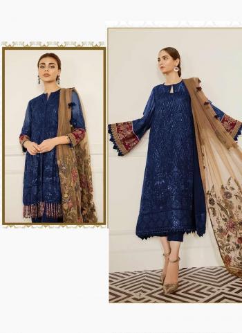 Navy Blue Georgette Festival Wear Embroidery Work Pakistani Suit