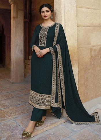 Rama Georgette Wedding Wear Swarovski Work Straight Suit